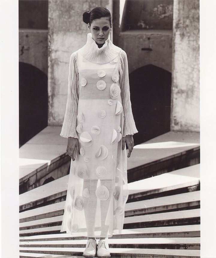 An image from a photo-shoot from the 1990s by fashion photographer Asha Kochhar, featuring Michelle Innes. Image courtesy: Asha Kochhar, New Delhi.