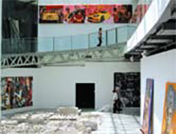 Exhibition view of 'India Xianzai' exhibitionat the Museum of Contemporary Art (MoCA) Shanghai. It was a collaborative exhibition held by ICIA, Mumbai and Seven Art Limited, Delhi. Image Courtesy: Seven Art Limited.