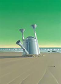 "Vonn Sumner's Site; Oil on canvas, 70""x50""; Exhibited at Amy Morton's 'I Dream Awake'. Image Courtesy of 'I Dream Awake' Project: Amy Morton Fine Art."